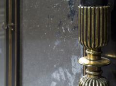 James Newton Pair of Regency Ebonised Marble Top Side Cabinets - 1047816