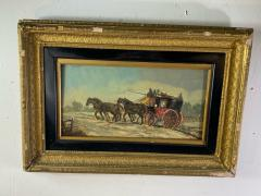 James Pollard HORSE DRAWN STAGECOACH PAINTING SIGNED BY JAMES POLLARD - 1448862