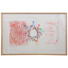 James Rosenquist Signed Numbered James Rosenquist Number Wheel Dinner Triangle 1978 - 609437