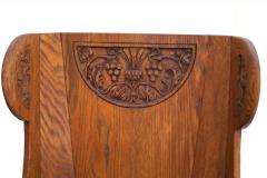 Jamestown Lounge Co Antique Pair of Carved Oak Lounge Wingback Chairs Jamestown Lounge Co  - 1956498