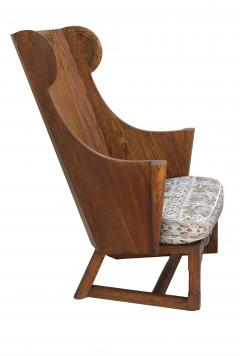 Jamestown Lounge Co Antique Pair of Carved Oak Lounge Wingback Chairs Jamestown Lounge Co  - 1956501
