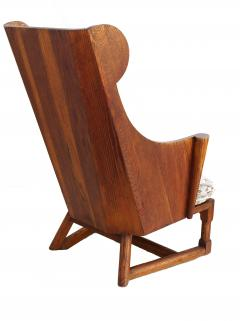 Jamestown Lounge Co Antique Pair of Carved Oak Lounge Wingback Chairs Jamestown Lounge Co  - 1956504