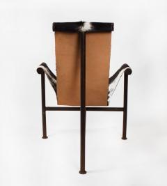 Jan Barboglio Jan Barboglio Sling Chair and Ottoman in Cowhide Patinated Steel Texas Artist - 2091091