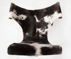 Jan Barboglio Jan Barboglio Sling Chair and Ottoman in Cowhide Patinated Steel Texas Artist - 2091092