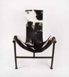 Jan Barboglio Jan Barboglio Sling Chair and Ottoman in Cowhide Patinated Steel Texas Artist - 2091093
