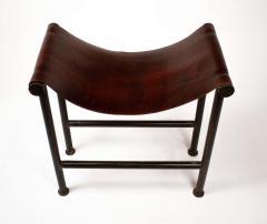 Jan Barboglio Jan Barboglio Stool in Steel and Leather Texas Modernism - 2091071