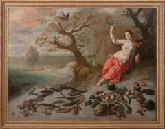 Jan Boets CERES WITH HER SICKLE AND CORNUCOPIA late 17th century - 1794081