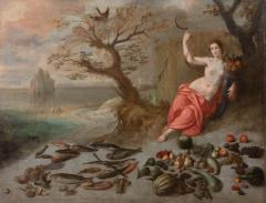 Jan Boets CERES WITH HER SICKLE AND CORNUCOPIA late 17th century - 1794134