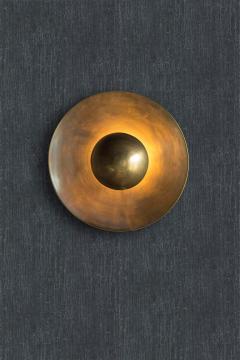 Jan Garncarek Metropolis Brass Sconce by Jan Garncarek - 856403