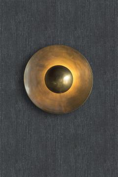 Jan Garncarek Metropolis Brass Sconce by Jan Garncarek - 856408
