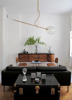 Jan Garncerak Hasta Hand Made Brass and Blown Glass Suspension Lamp - 664822