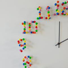 Jan Paul Meulendijks Discodip illusionistic wall clock - 1326328