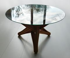 Jan Paul Meulendijks Lock bamboo dining table base only glass top not included  - 1933390
