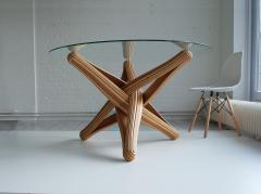 Jan Paul Meulendijks Lock bamboo dining table base only glass top not included  - 1933396