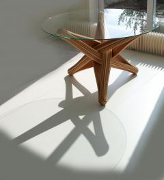 Jan Paul Meulendijks Lock bamboo dining table base only glass top not included  - 1933397