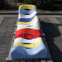 Jan Snoeck Jan Snoeck Ceramics Daybed or Sculpture from the MS Volendam Netherlands - 967445