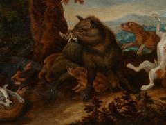 Jan van Kessel the Elder Flemish 1626 1679 Kessel 17th C Baroque Hunting Scene Wild Boar Hunt - 2051048