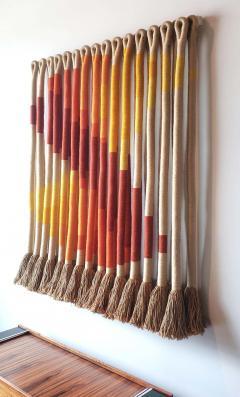 Jane Knight Oblique Ombre Textile Art Work by Fiber Artist Jane Knight 1970s - 2097444