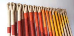 Jane Knight Oblique Ombre Textile Art Work by Fiber Artist Jane Knight 1970s - 2097448
