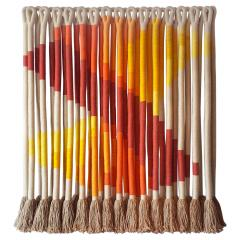 Jane Knight Oblique Ombre Textile Art Work by Fiber Artist Jane Knight 1970s - 2097449