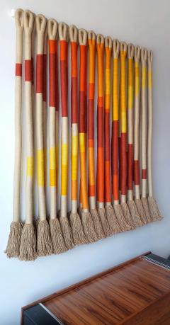 Jane Knight Oblique Ombre Textile Art Work by Fiber Artist Jane Knight 1970s - 2097450