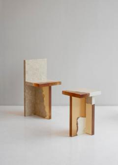 Jang Hea Kyoung Crystal Resin and Marble Fragment Side Table Jang Hea Kyoung - 1331367