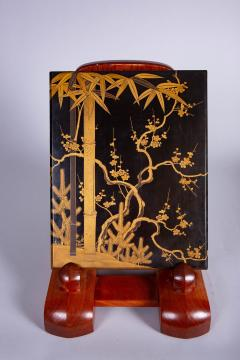 Japanese 19th Century Lacquer Letter Box With Gold Makie - 1511625