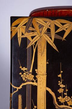 Japanese 19th Century Lacquer Letter Box With Gold Makie - 1511627