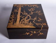 Japanese 19th Century Lacquer Letter Box With Gold Makie - 1511629