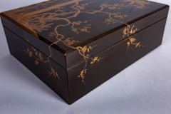 Japanese 19th Century Lacquer Letter Box With Gold Makie - 1511631