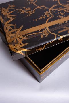 Japanese 19th Century Lacquer Letter Box With Gold Makie - 1511633