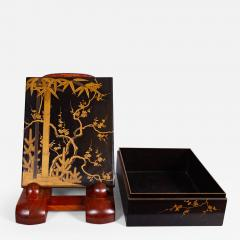 Japanese 19th Century Lacquer Letter Box With Gold Makie - 1514182