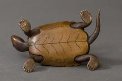 Japanese Antique Bronze Sculpture of Turtles - 1397249