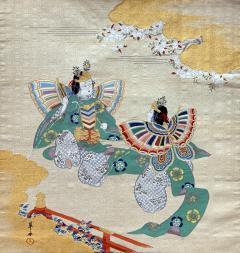 Japanese Antique Fukusa Textile Art Meiji Period - 1119006