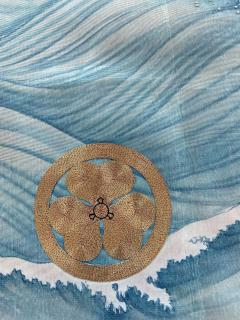 Japanese Antique Fukusa Textile Art Meiji Period - 1264789