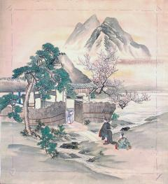 Japanese Antique Fukusa Textile Art Meiji Period - 1264793
