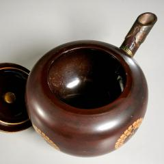 Japanese Antique Sake Ewer Lacquer with Bronze Meiji Period - 1768283