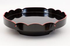 Japanese Black Lacquer Footed Tray - 1353932
