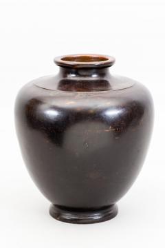 Japanese Bronze Vase with Rabbit Design - 1950282