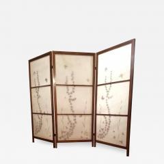 Japanese Floor Screen Shoji Paper Natural Elements Elmwood Fitted Frame 1960 - 1766166