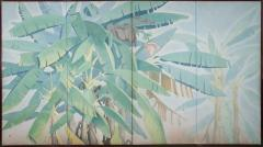 Japanese Four Panel Screen Banana Grove - 1499761