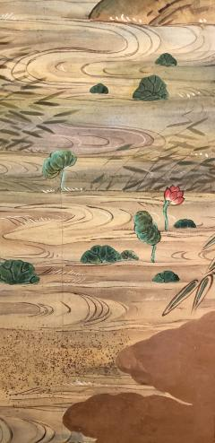 Japanese Four Panel Screen Water Landscape - 1564233