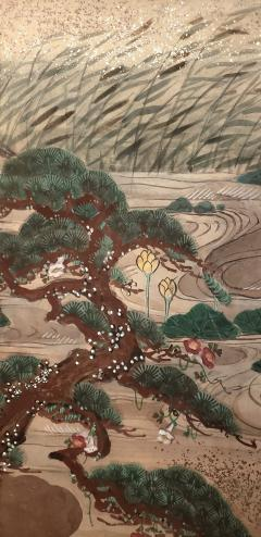 Japanese Four Panel Screen Water Landscape - 1564235
