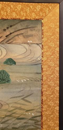 Japanese Four Panel Screen Water Landscape - 1564240