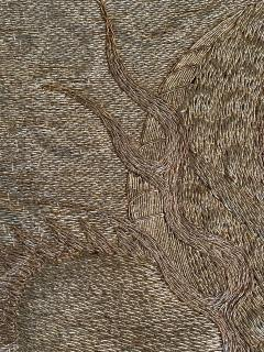 Japanese Fukusa Relief Embroidery Textile Art of Dragon - 2103086