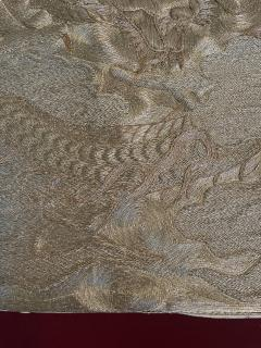 Japanese Fukusa Relief Embroidery Textile Art of Dragon - 2103089