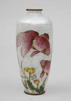 Japanese Ginbari Cloisonne Vase Meiji Period - 226609