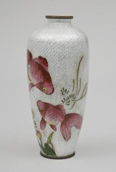 Japanese Ginbari Cloisonne Vase Meiji Period - 226613