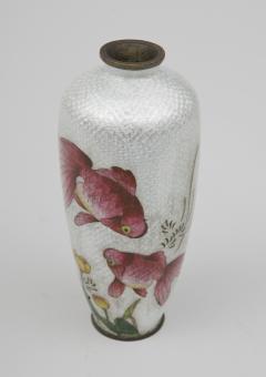 Japanese Ginbari Cloisonne Vase Meiji Period - 226614