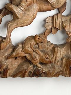 Japanese Keyaki Wood Carving - 2063040